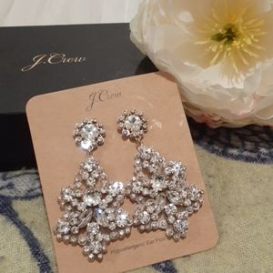 J crew Crystal  and Acetate statement earrings